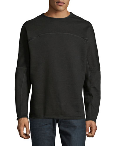 Publish Brand Crew Neck Fleece Pullover-BLACK-Medium