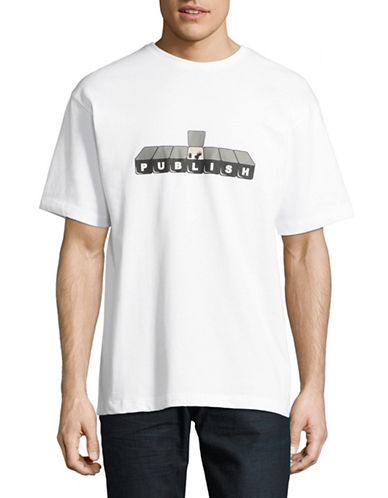 Publish Brand Graphic Cotton Tee-WHITE-Medium