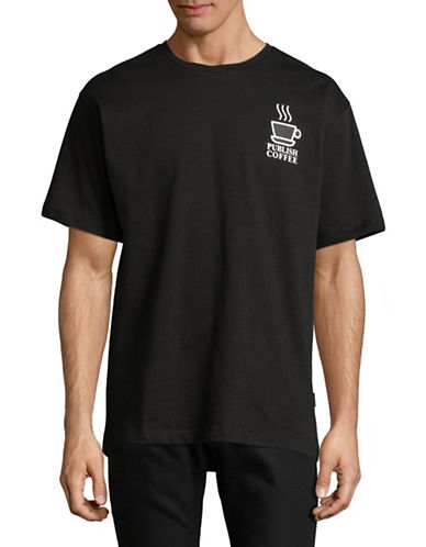Publish Brand Publish Coffee Cotton T-Shirt-BLACK-Large