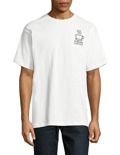 Publish Brand Publish Coffee Cotton T-Shirt-WHITE-Medium