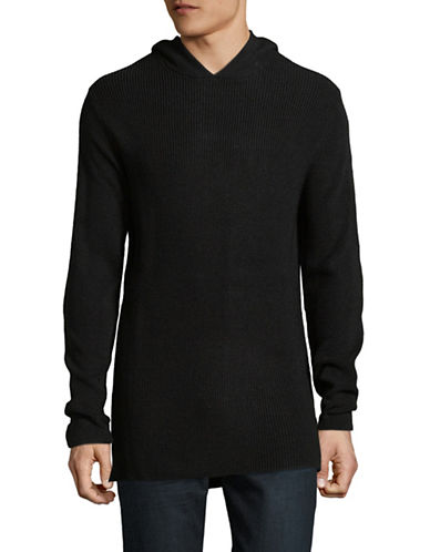 Publish Brand Heavy Merino Wool-Blend Hoodie-BLACK-Large