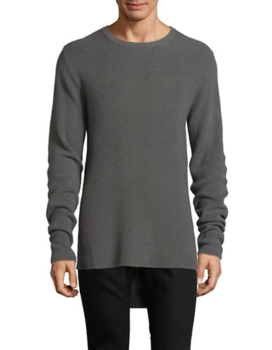 Publish Brand Heavy Merino Wool-Blend Sweater-GREY-Large