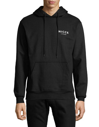 Nicce Chest Logo Hoodie-BLACK-Large