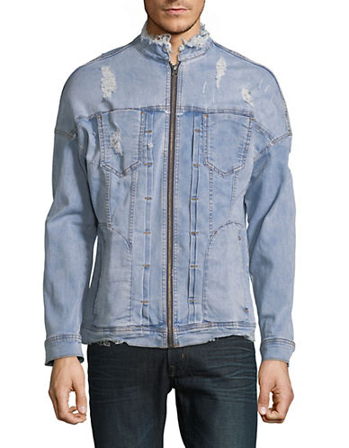 Kollar Raw-Edge Denim Jacket-BLUE-X-Large 90054632_BLUE_X-Large