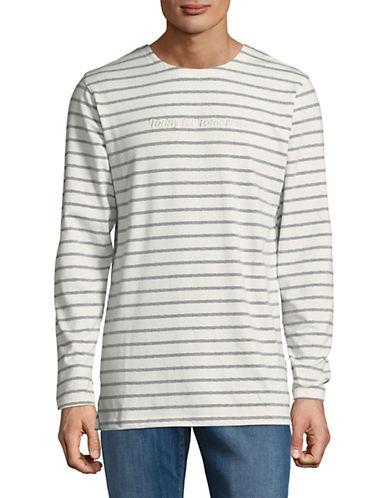 Publish Brand Devyn Striped Sweatshirt-GREY-X-Large 89982055_GREY_X-Large