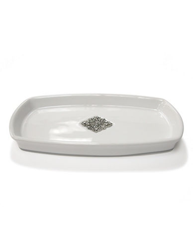 Famous Home Fashions Inc. (Dd) Ceramic Jewel Tray-WHITE-One Size