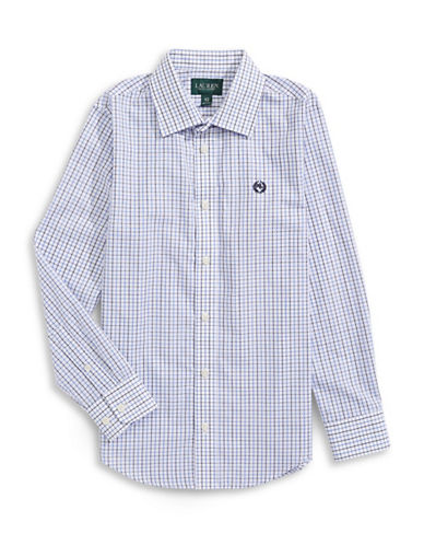 Lauren Ralph Lauren Tri-Tone Check Oxford-BLUE-12