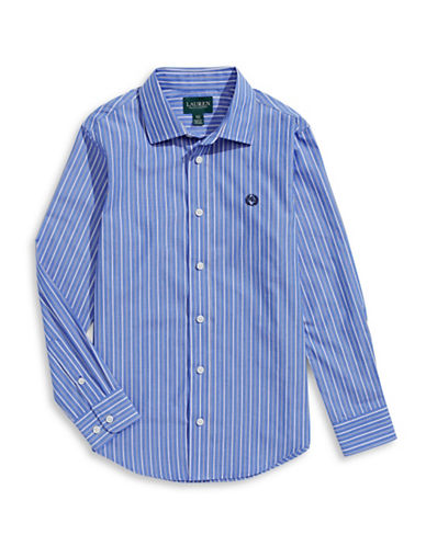 Lauren Ralph Lauren Striped Sport Shirt-BLUE/WHITE-10