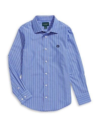 Lauren Ralph Lauren Striped Sport Shirt-BLUE/WHITE-14