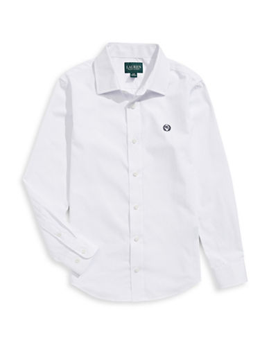 Lauren Ralph Lauren Cotton-Blend Sport Shirt-WHITE-8