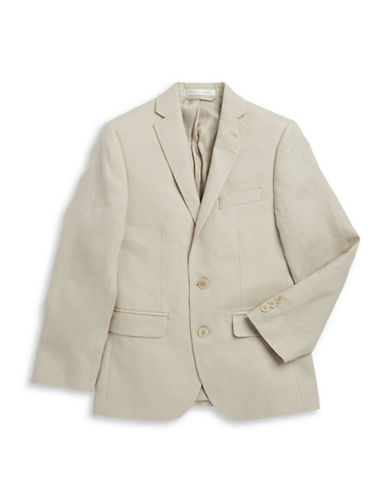 Lauren Ralph Lauren Two-Button Linen Suit Jacket-BEIGE-10