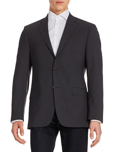 Lauren Ralph Lauren Wool Slim-Fit Suit Jacket-CHARCOAL-42 Short