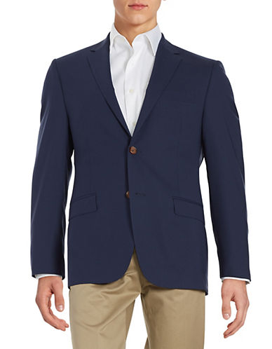 Lauren Ralph Lauren Two-Button Wool Jacket-NAVY-42 Tall