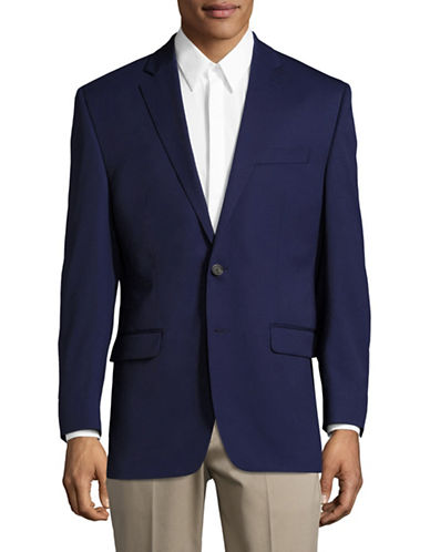 Chaps Slim Fit Stretch Sports Jacket-BLUE-44 Tall