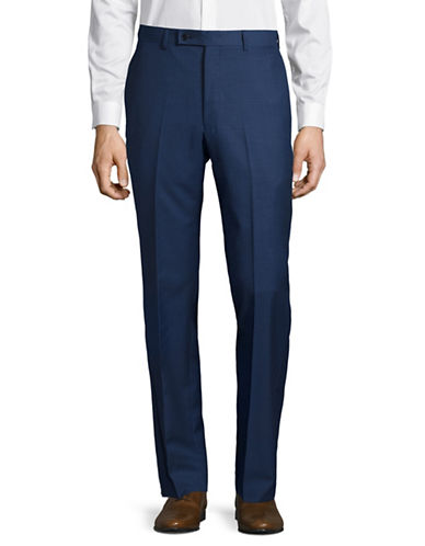 Calvin Klein X-Fit Slim Wool Pants-BLUE-36X32