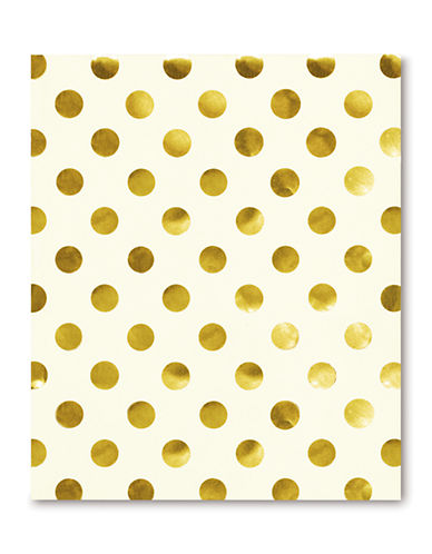 Kate Spade New York Spiral Notebook-GOLD-One Size