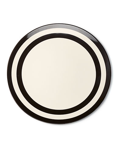 Kate Spade New York Black Stripe Dinner Plate-BLACK-One Size