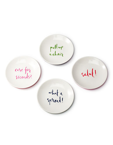 Kate Spade New York SAYINGS Plate Set-MULTI-One Size