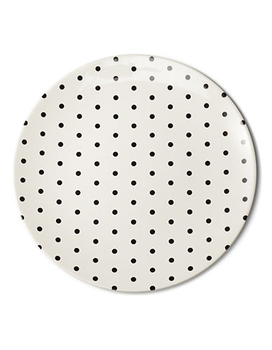 Kate Spade New York Dots Salad Plate-BLACK-One Size