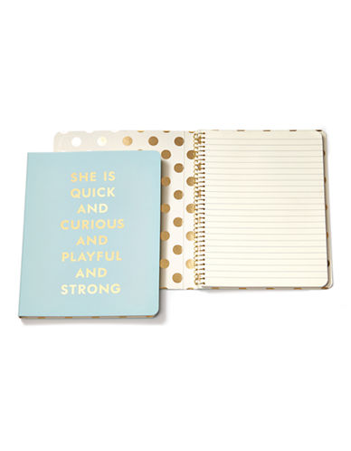 Kate Spade New York Concealed Spiral Notebooks-BLUE-One Size