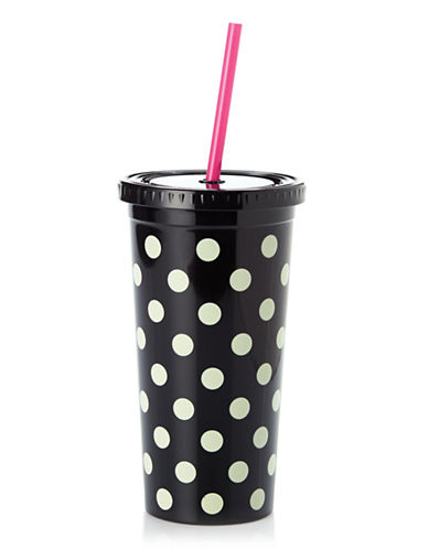 Kate Spade New York Tumblers With Straw-DOTS-One Size