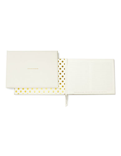 Kate Spade New York Bridal Guest Book-WHITE-One Size