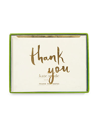 Kate Spade New York Thank You Cards-WHITE-One Size