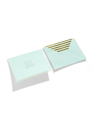 Kate Spade New York All Of The Above Thank You Card Set-TURQUOISE-One Size