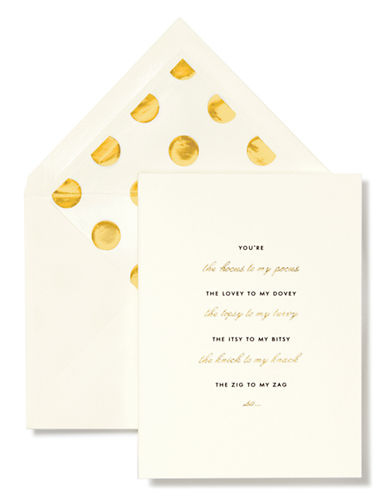 Kate Spade New York Hocus To My Pocus Bridesmaid Card Set-IVORY-One Size