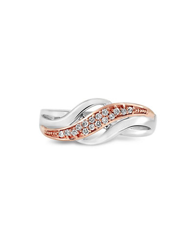 Fine Jewellery Two-Tone Layered 0.08 TCW Diamond Ring-TWO TONE-7