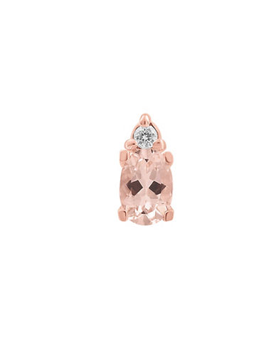 Fine Jewellery 14K Rose-Gold Studs with Morganite and 0.06 TCW Diamonds-ROSE GOLD-One Size