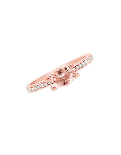 Fine Jewellery 14K Rose-Gold Ring with Morganite and 0.10 TCW Diamonds-ROSE GOLD-8