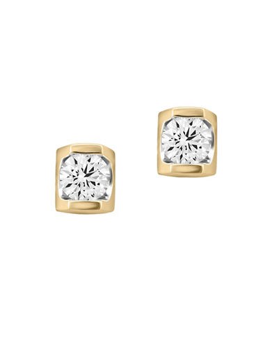 Fine Jewellery 14K Yellow Gold Studs with 0.10 TCW Diamonds-GOLD-One Size
