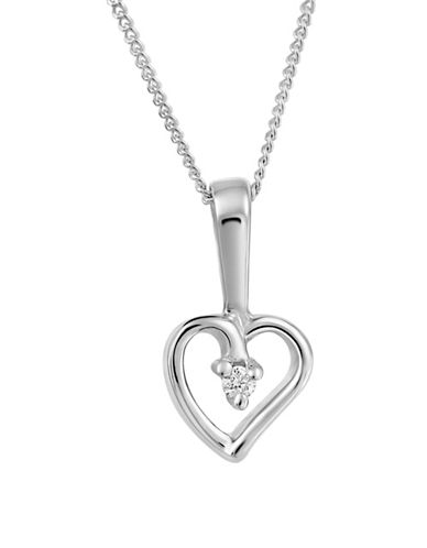 Fine Jewellery 14K White Gold Pendant Necklace with 0.015 TCW Diamonds-WHITE GOLD-One Size