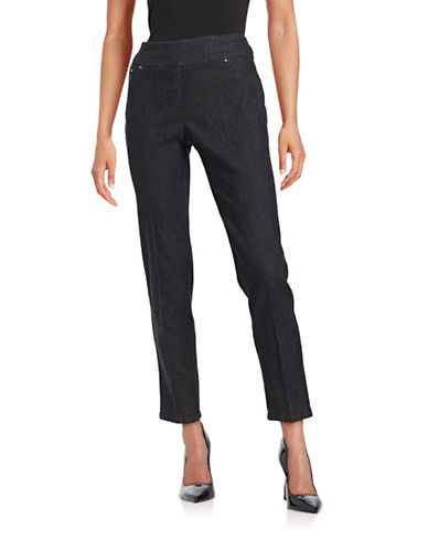 Ruby Rd Contour Waistband Stretch Jeans-BLACK-8