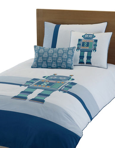 Maholi Android Print Duvet Cover Set-BLUE-Twin