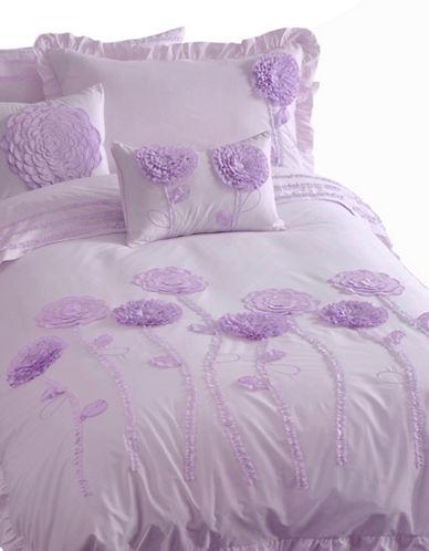 Maholi Floral Print Duvet Cover Set-LILAC-Twin