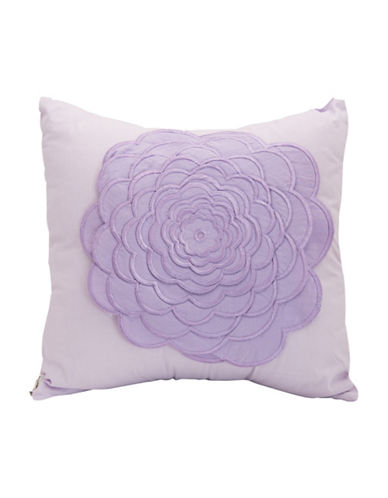 Maholi Embroidered Floral Lilac Cushion-LILAC-18x18
