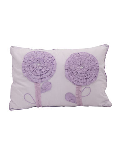 Maholi Embroidered Floral Lilac Breakfast Cushion-LILAC-One Size