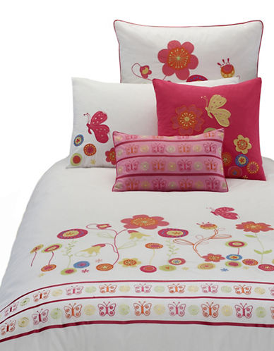 Maholi Summer Print Duvet Cover Set-RED-Twin