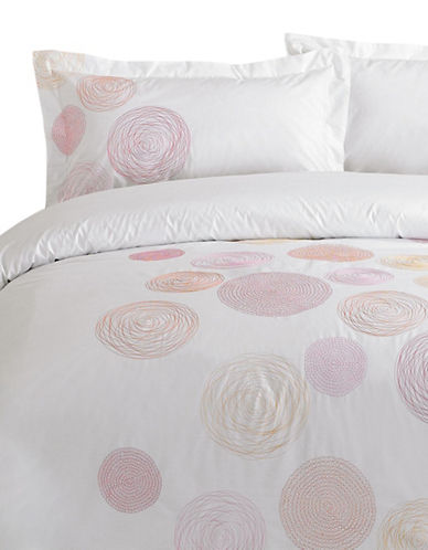 Maholi Three-Piece Spiral Duvet Cover Set-RED-King