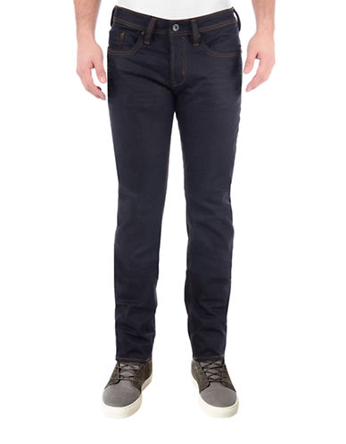 Buffalo David Bitton Evan Stretch Slim Fleece Jeans-BLACK-38X32