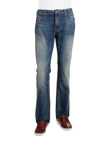 Buffalo David Bitton Straight-Leg Jeans-BLUE-36X32