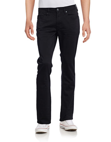 Buffalo David Bitton Six-X Slim Straight Stretch Jeans-BLACK-30X32