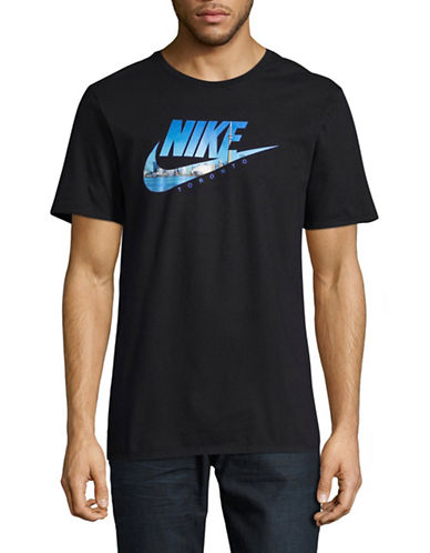 Nike Futura Toronto Photo T-Shirt-BLACK-Large
