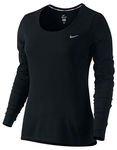 Nike Dri-FIT Contour Long-Sleeve Top-BLACK-Large 88036607_BLACK_Large
