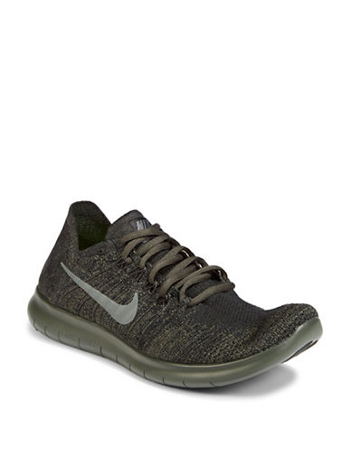 Nike Free RN Flyknit Running Shoes-CHARCOAL-11