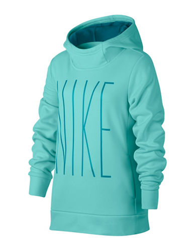 Nike Lightweight Therma Training Hoodie-BLUE-Medium