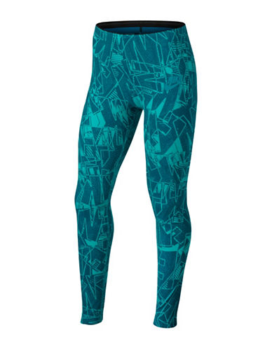 Nike Sportswear Tights-GREEN-Small