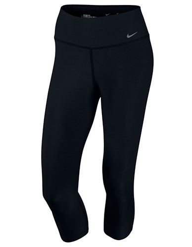 Nike Legend Tight Poly Capri-BLACK-Large